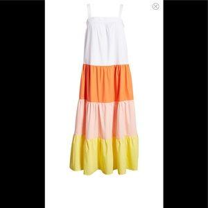 English Factory Sundress Colorblock L